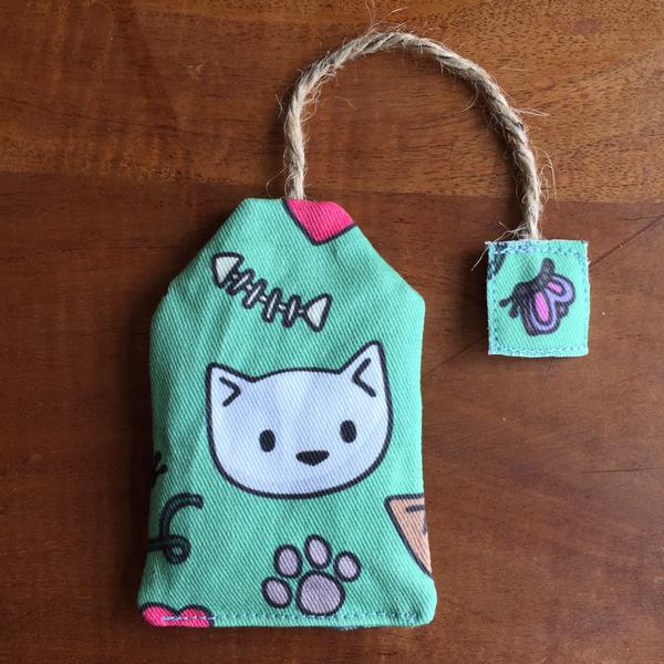 catnip tea bag toy