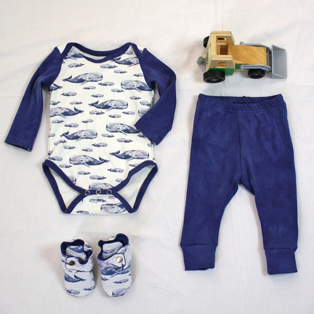whale baby onesie